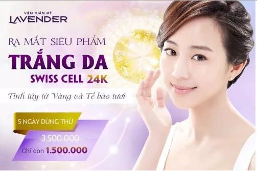 Tắm trắng Swiss Cell 24K – Siêu phẩm Trắng da, ngừa lão hóa