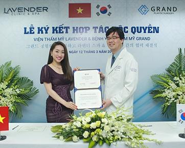 Lễ ký kết độc quyền giữa viện thẩm mỹ Lavender và bệnh viện Grand (Hàn Quốc)