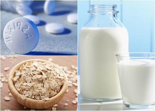 Tắm trắng da tại nhà bằng thuốc Aspirin kết hợp với một số loại thực phẩm