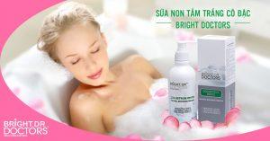 review sữa non tắm trắng bright doctors